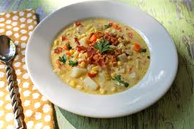 Lake Lure Cottage Kitchen - creamy corn chowder with bacon lake lure cottage kitchenlake