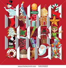 christmas calendar countdown christmas advent calendar day stock vector