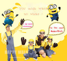 Despicable Minion Costume Aliexpress Buy 2017 Parental Child Adults Men Women