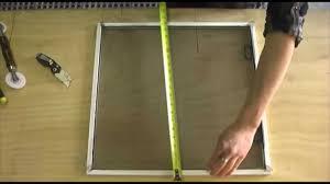aluminum window screen roll how to make a window screen youtube