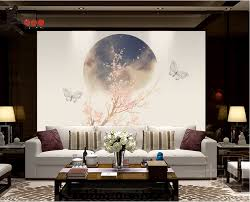 customized elegant wallpaper for walls 3d large chinese zen style