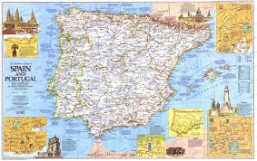 Map Of Portugal And Spain 1984 Travelers Map Of Spain And Portugal Side 1 Historical Maps