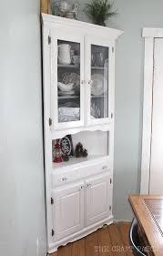 the craft patch corner hutch furniture makeover