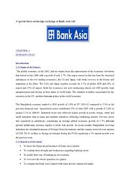 Authorization Letter Check Encashment a special focus on foreign exchange of bank asia ltd by md papon