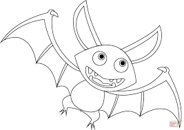 cartoon bat coloring page free printable coloring pages