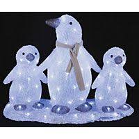 shop gemmy lighted penguin outdoor decoration with blue