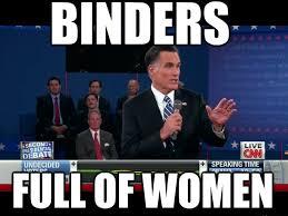 Binder Meme - mitt romney s binders full of women meme goes viral atlnightspots
