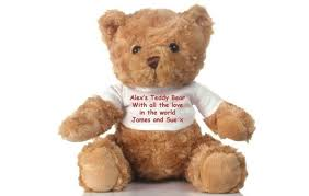 teddy bears personalised message teddy i just it