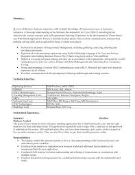 exle of business analyst resume business analyst resume for insurance industry
