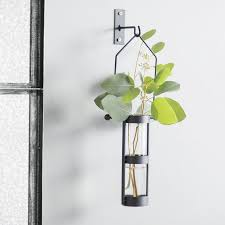 Wall Mounted Glass Flower Vases Wall Vases