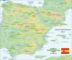 Cordoba Spain Map by Map Of Unesco World Heritage Spain Map In The Atlas Of The World
