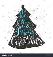we wish you merry quote stock vector 328007705