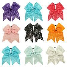 ribbon for hair that says gymnastics rhinestone cheer bow cheer bow cheerleading bow hair bow