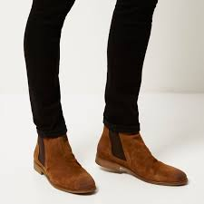 womens boots river island brown suede chelsea boots womens model brown brown suede chelsea