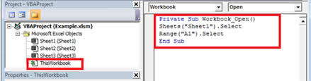 easy steps to open an excel workbook to a specific worksheet