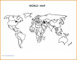 printable blank world map template for students and kids in