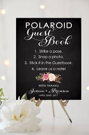 poloroid guest book wedding polaroid guest book