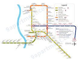 bangkok bts u0026 mrt route map bangkok apartments budget