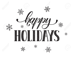 happy holidays postcard template modern new year lettering with