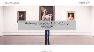art gallery website templates godaddy