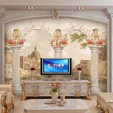 home decoriving room wall mural ideasliving ideas murals for