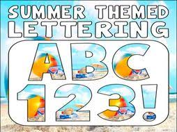 themed letters summer themed display lettering letters numbers punctuation