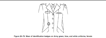 army regulation 670 1 identification badges section 29 18 page 303