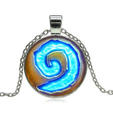 fine chain pendant necklace images World of warcraft hearthstone glass round pendant jpg