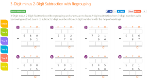 subtraction without regrouping worksheets grade 3 k8 school lessons 3 digit minus 2 digit subtraction with regrouping
