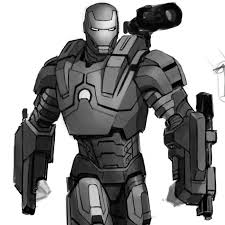 Drawn wars iron man 2 war machine  Pencil and in color drawn wars