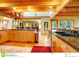 log cabin style kitchen interior stock photo image 39406389