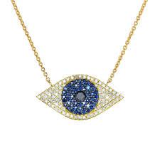 blue eye necklace images Diamond sapphire evil eye necklace ring concierge jpg