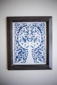 Hallway Pass Folk Art Paper Cut Diy With Printable Spring Pattern Live Free