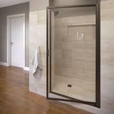 Shower Doors Prices Basco Deluxe 36 In X 70 1 2 In Framed Pivot Shower Door In