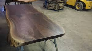 Walnut Live Edge Table by Walnut Live Edge Table Top Woodrich Pa