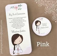 communion favor ideas communion favor cards bookmark communion girl recuerdo