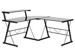 bureau metal et verre bureau d angle corner en métal et verre noir