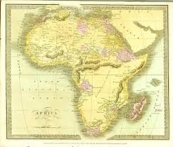 Mountain Ranges World Map by This 1834 Map Of Africa By David Burr Shows The Fictional