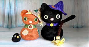 amigurumi witch pattern amigurumi halloween black cat free crochet pattern socialeyes