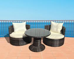 Patio Furniture Milwaukee Wi by Deeco Geo Vino 3 Piece Seating Group With Cushion U0026 Reviews Wayfair