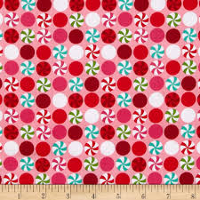 christmas pattern knit fabric michael miller holiday peppermint dot pink discount designer