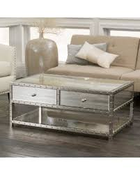 silver mirrored coffee table amazing deal on jade mirrored coffee table by christopher knight