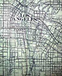 Street Map Of Los Angeles by Los Angeles Ca 1956 Map By Aaa Of The Us Highways Shown O U2026 Flickr