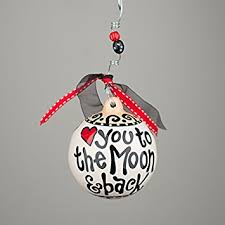 i you to the moon and back ornament