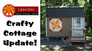 crafty cottage update one year after turning a prebuilt shed into