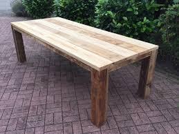 Wohnzimmertisch Aus Obstkisten Gartentisch Aus Gebrauchtem Bauholz Geölt Gartentische Aus