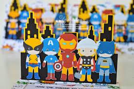 jingvitations superhero invitations ironman capt america thor