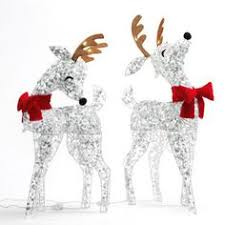 Christmas Outdoor Decor At Lowes by Gemmy Starry Night Grapevine Deer Outdoor Christmas Decoration