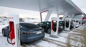Solar Canopy by Tesla Opens Europe U0027s Largest Supercharger Station First In