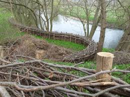 make a fence out of tree branches garden decor pinterest